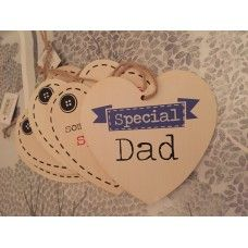 Special Dad hanging wooden heart £1.95