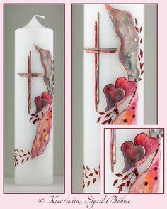 Hochzeitskerze  von  Kerzenkunst -  Kreatiwita auf DaWanda.com