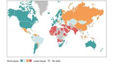 Top 5 countries for gender equality: 1. Iceland  2. Finland  3. Norway  4. Sweden  5. Denmark  http://bbc.in/1u2kcTP