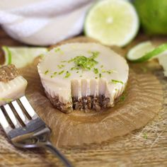 SCD Raw Key Lime Tartlets (*Substitute honey for maple syrup...)