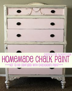 Pros and Cons of Chalk Paint: Lesson learned- I'm not interested in a vintage/aged/distressed appearance, so just get good primer and paint instead.