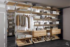 Duo interior systems shown here with oak coloured carcass www.draksonline.co.uk walk in systems!
