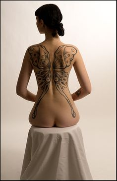 Beautiful butterfly back piece. #InkedMagazine #inked #back #tattoo #tattoos #back #butterfly #butterflies #ink