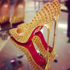 top christian louboutin replicas - gold pumps on Pinterest | Gold Leather, Glitter Pumps and ...