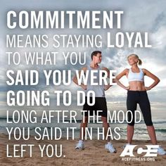 The BIG C: COMMITMENT. Time to revisit your #health & #fitness goals? #WellnessWednesday