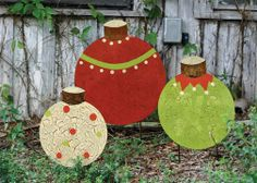 christmas ball yard stakes set of rustic holiday decorations atlanta iron accents - Christmas Yard Decorations