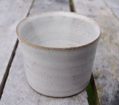 Handmade pottery candle holder with white speckled stoneware glaze. Hand crafted on a potter's wheel by TimFennaCeramics on Etsy Handmade Pottery, Handmade Gifts, Tea Light Holder, Moscow Mule Mugs, Tea Lights, Stoneware, Glaze, Candle Holders, Candles