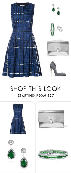 """Plaid"" by stylebyshannonk on Polyvore featuring Oscar de la Renta, Proenza Schouler, Bling Jewelry and Annello"