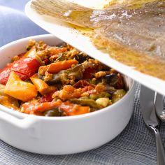 Découvrez la recette Ratatouille au four sur cuisineactuelle.fr.