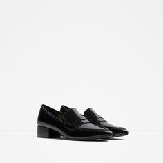 Image 2 of LOAFERS WITH HEEL from Zara