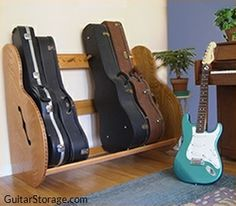 Guitar Storage - Studio Guitar Case Rack
