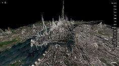Ciudades invisibles (invisible cities) en un proyecto que nos ayuda a visualizar las redes sociales en el entorno urbano.
