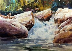 rocks Carl Purcell   WATERCOLOR