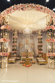 Wedding Stage Decoration Ideas That Will Definitely Wow Your Guest - Our favour. Wedding Stage Decoration Ideas That Will Definitely Wow Your Guest - Our favourite modern Mandap decor ideas. Wedding Ceremony Ideas, Wedding Hall Decorations, Wedding Mandap, Rustic Wedding Centerpieces, Wedding Table, Backdrop Wedding, Wedding Bouquets, Decor Wedding, Indian Wedding Receptions