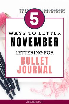Learn 5 ways to letter December, plus a Free Lettering Worksheet! learning several ways to letter the same word will help you find your lettering style.