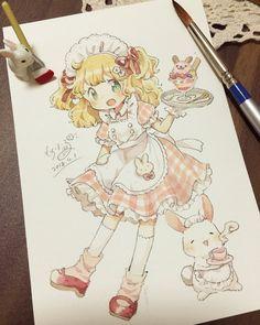 No automatic alt text available. Cute Anime Chibi, Cute Anime Pics, Anime Girl Cute, Anime Art Girl, Manga Art, Kawaii Anime, Anime Girl Drawings, Kawaii Drawings, Cute Drawings