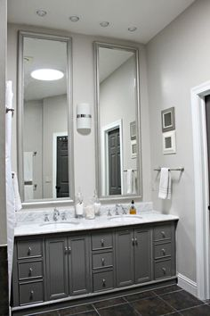Love the floor to ceiling morrors-note for master bath