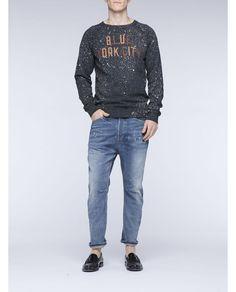 College rocker sweater