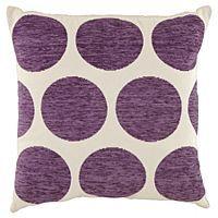 ASDA Chenille Spot Cushion - Plum | Cushions | ASDA direct
