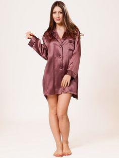 Raisin Mulberry Silk Night Shirt for Women 8998ea89f