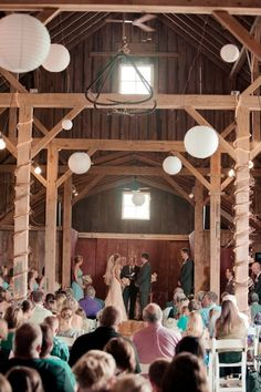 Only the ceremony of this wedding was at the Century Barn.