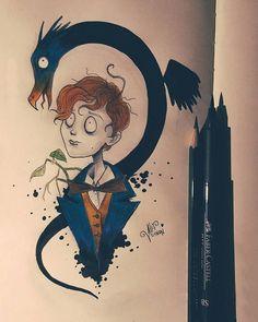 Meet and Occamy Tim Burton style Tim Burton Drawings Style, Tim Burton Art Style, Tim Burton Artwork, Desenhos Tim Burton, Desenhos Halloween, Harry Potter Illustrations, Arte Obscura, Arte Disney, Fantastic Beasts And Where