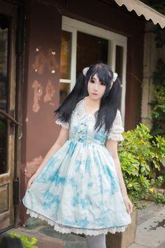 Cheap Japanese Girls Printing Lolita Dress Sale At Lolita Dresses Online Shop