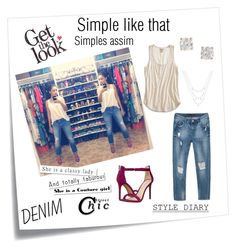 """Simple like that"" by bruna-franklin on Polyvore featuring moda, Post-It, Lucky Brand, Anita Ko, Steve Madden e Zara"