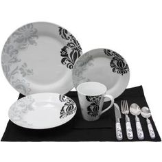 I Could Do This Sharpie And White Plates Love Up. Mikasa Urban Rose Dinnerware Set 5pc Black White  sc 1 st  Odyssey World & Black And White Dinner Sets - Home Ideas