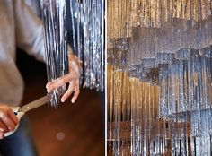 Finishing touches at CONFETTISYSTEM's Manhattan inspired installation for the premier of the Regent Theatre's production of King Kong last week.  Photo - Sean Fennessy