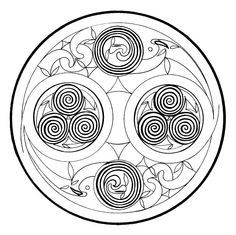 Celtic Mandala: Spirals as energy flow Typical for the Celtic symbolism are various designs of spirals representing the physical and spiritual energy.
