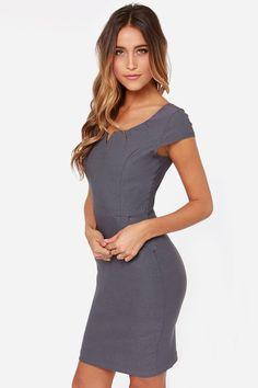 LULUS Exclusive Work Wonders Grey Dress at Lulus.com!