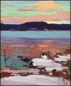View Landscape with snow Northern mist, verso by Tom Thomson on artnet. Browse upcoming and past auction lots by Tom Thomson. Emily Carr, Canadian Painters, Canadian Artists, Abstract Landscape, Landscape Paintings, Oil Paintings, Landscaping Las Vegas, Landscaping Rocks, Landscaping Design