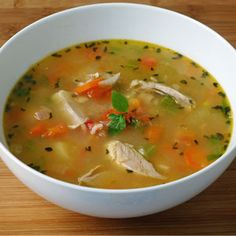 Chicken Soup with Mint & Lemon, I made a version of this on Saturday.  It was awesome!