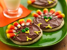 Great Edible Craft for Harvest Party - Turkey Cookie Treats