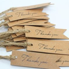 Hang Tag Thank You Hang Tag Brown or White Wedding Favor Party Favor Tags, Wedding Favor Tags, Cookie Packaging, Handmade Gift Tags, Hang Tags, Diy For Kids, Diy Gifts, Paper Crafts, Gift Wrapping