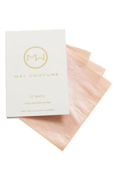 Mai Couture Highlighter Paper. $28 I am in love. It makes my skin look flawless and healthy with just a quick swipe and stores well in my purse. Gosh I love Myglam.