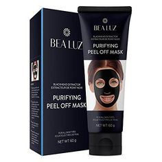 Blackhead Remover Black Mask From Bea Luz Purifying peel off mask with Activated Charcoal Deep Pore Cleanse for Acne Oil Control Peel-Off Mask 60g