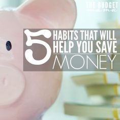 These 5 habits will help you save money and develop better strategies for making saving money easier! They may not be easy at first to implement but they are so worth it!