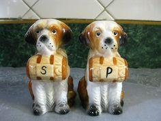 Love these! Vintage Salt & Pepper Shakers, St. Bernard