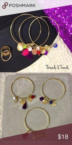 Charm Bracelet Set Cute charm bracelet trio Jewelry Bracelets