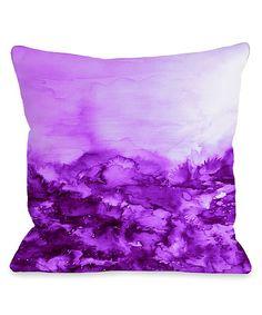 Julia Di Sano Purple Into Eternity Throw Pillow