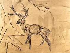 Original deer painting deer decor white tail deer Horse Drawings, Animal Drawings, Craft Displays, Deer Wall Art, African Patterns, Circuit Crafts, Deer Decor, Child Art, Draw Animals
