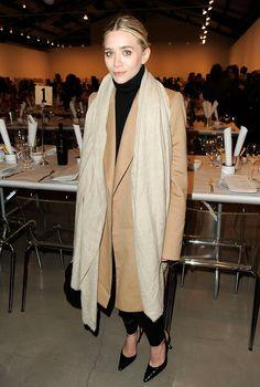 Ashley Olsen camel coat