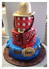 western theme cowboy cake, Sam Lucero, Blue Cake, Little Rock AR