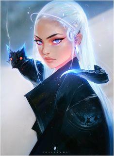 Daenerys Targaryen (Mother of Dragons ) from HBO Game of Thrones, concept art by artist Ross Tran Cartoon Kunst, Anime Kunst, Cartoon Art, Art And Illustration, Character Inspiration, Character Art, Character Sketches, Female Character Design, Character Portraits