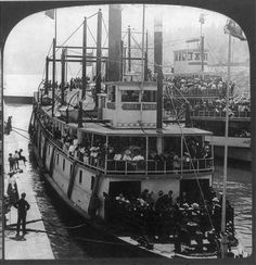 Cascade Locks Oregon, Pacific Northwest Style, Steam Boats, Columbia River, Gloss Matte, Working Class, Deck, Exterior, Travel