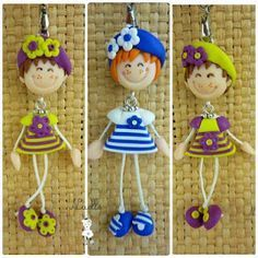 This gives me an idea for something else. Polymer Clay People, Cute Polymer Clay, Polymer Clay Dolls, Cute Clay, Polymer Clay Projects, Polymer Clay Charms, Polymer Clay Creations, Polymer Clay Jewelry, Clay Crafts