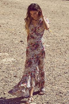 Beach House Maxi Dress - Natural - The Freedom State  - 1