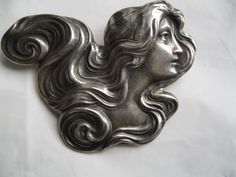 Unger Brothers Sterling Silver Art Nouveau Pin/Broach–Circa 1900 Unger Brothers Sterling Silver Art Nouveau Pin/Broach–Circa 1900 - My Accessories World Art Nouveau Jewelry, Jewelry Art, Art Nouveau Design, Design Art, Belle Epoque, Vintage Costume Jewelry, Vintage Jewelry, Vintage Silver, New Art
